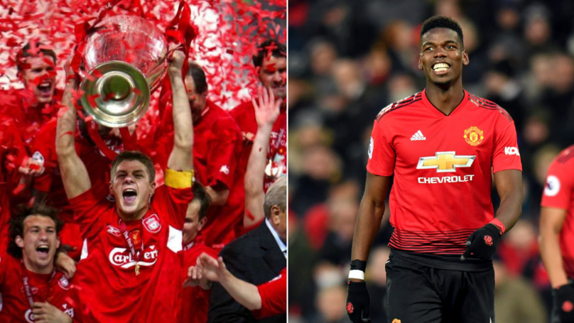 Manchester United Fans Claim Paul Pogba Is Better Than Steven Gerrard, Liverpool Fans Respond