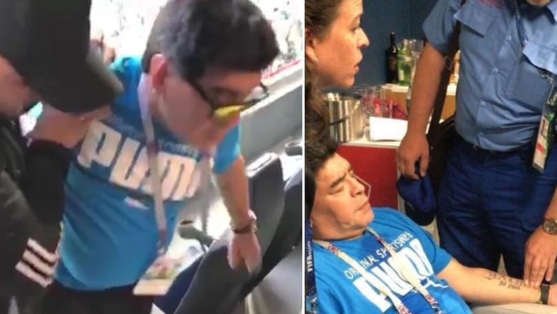 Argentina Hero Diego Maradona Rushed To Hospital