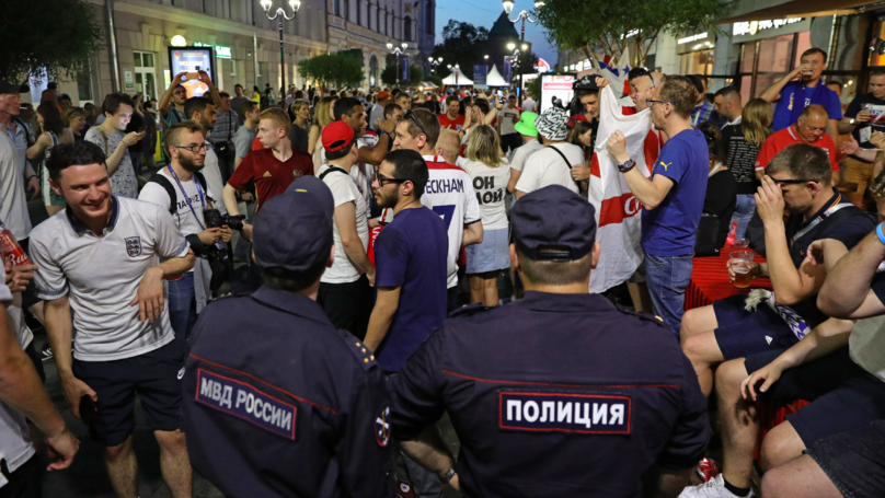 Russian Ultras 'Apologise, Return Flags, And Down Shots With England Fans'