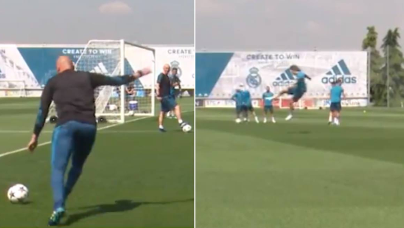 Zinedine Zidane's Lay Off For Luka Modric Wondergoal In Real Madrid Training Is A Thing Of Beauty