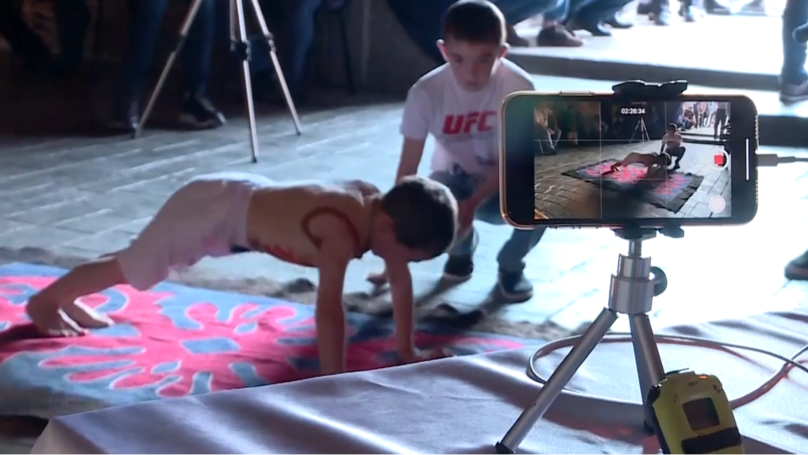 Boy Wins Apartment For Family After Doing 3,270 Press Ups In Two Hours