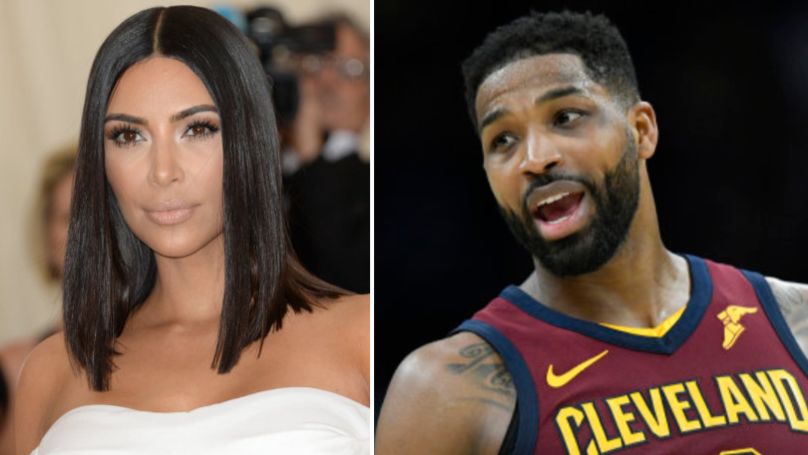 Twitter Users Convinced Kim Kardashian 'Spat At Tristan Thompson' At Hospital