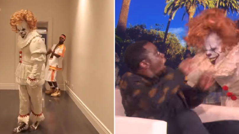 P Diddy Posted The Best Reaction To Being Scared By A Clown On Ellen