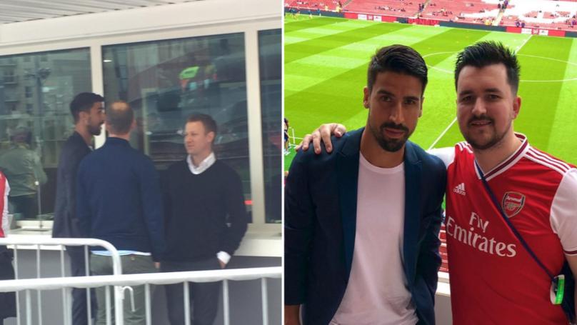 Sami Khedira Spotted At The Emirates Ahead Of Arsenal Vs. Lyon