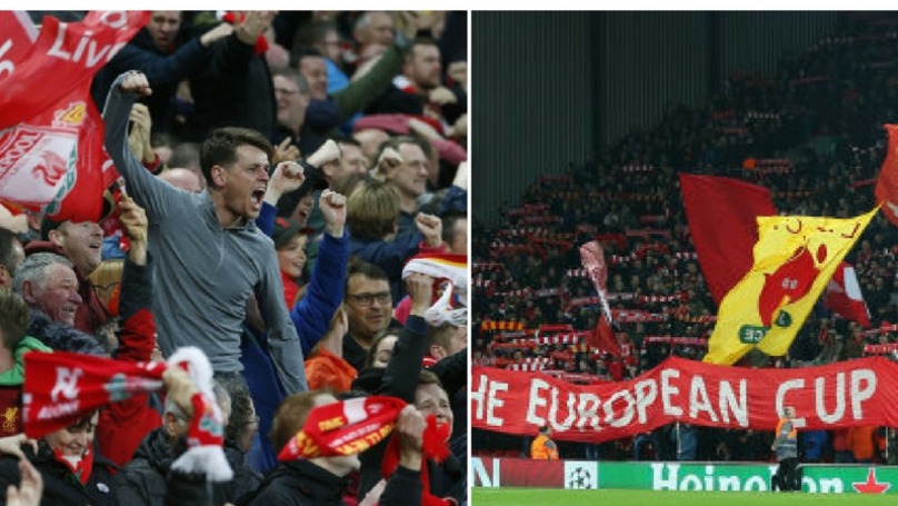 2d59b57ad58 Liverpool Supporters Created A Captivating Atmosphere Inside Anfield Last  Night