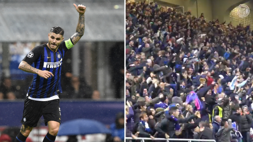 Inter Milan Fans Let Out Incredible Roar When Mauro Icardi Scored