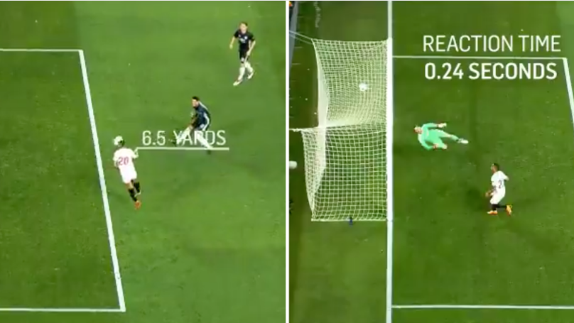 The Reaction Time Of David De Gea's Save From 6 Yards Proves He's Not Human