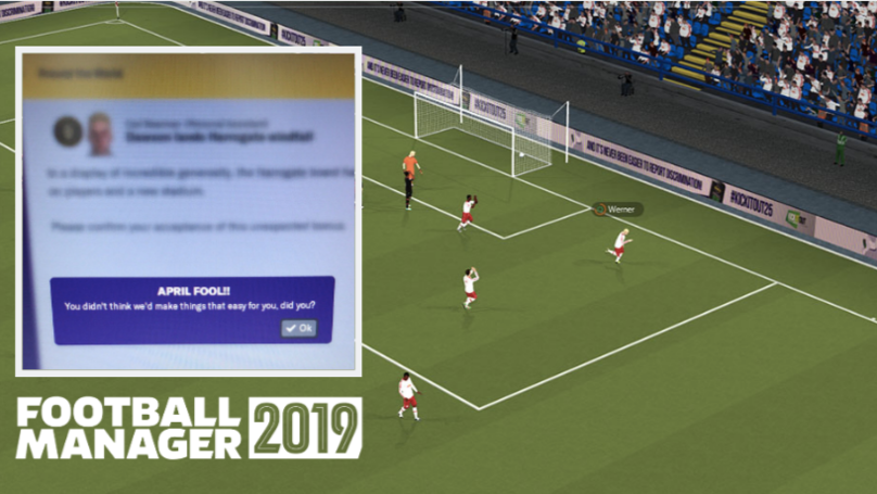 Football Manager Play Cruel 'April Fools Day' Prank On Its Players