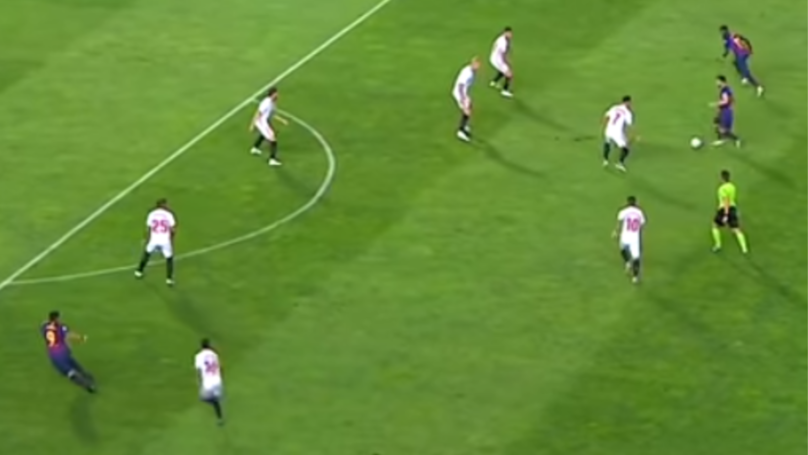 Only Lionel Messi Could Find Luis Suarez With This 'Superhuman' Pass