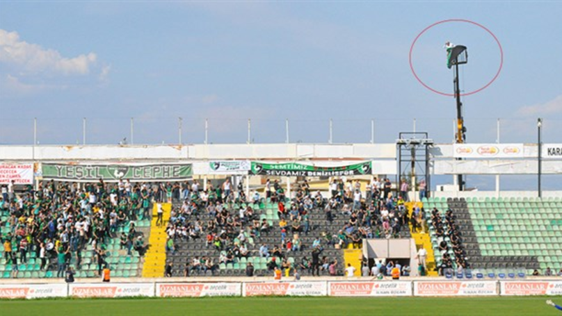 Football Fan Hires Crane After He Receives A Stadium Ban