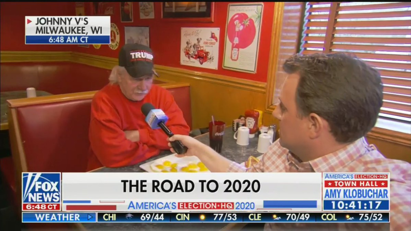 Internet Mocks Trump Supporter Interviewed On TV Eating Loads Of Eggs
