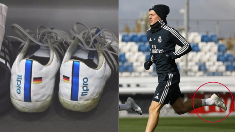 cddcb03311c Toni Kroos Finally Changes His Boots After Wearing The Same Pair Since 2014