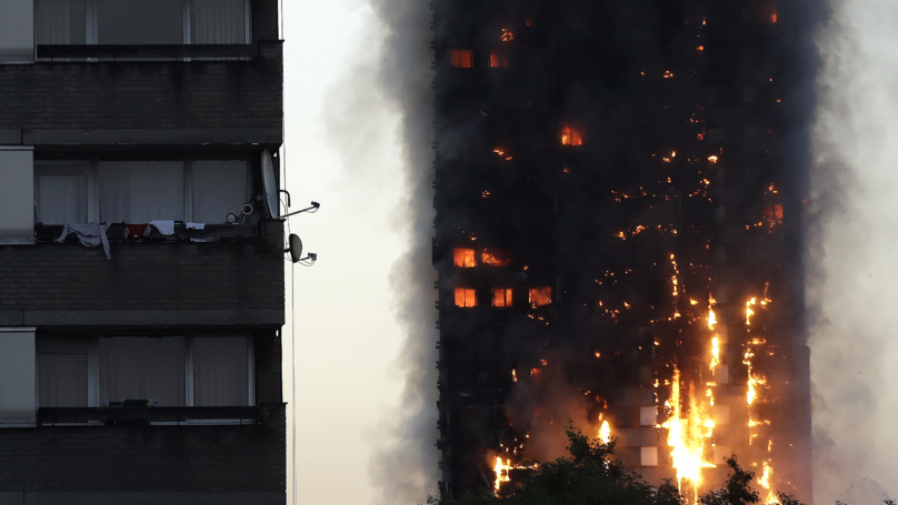 Baby Caught After Being 'Dropped From 10th Floor Window' Of Burning Tower