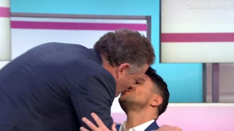 Piers Morgan Calls David Beckham 'Weird' For Kissing Controversy Then Smooches Peter Andre
