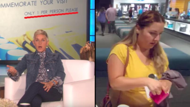 Ellen Degeneres Sets Up Hidden Camera To Catch Guest Stealing  | LADbible