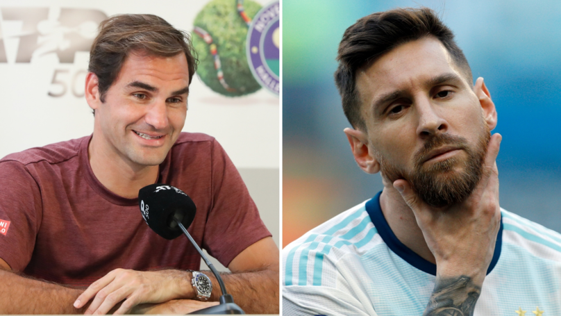 'What I Love Most About Messi Is That He Always Has Three Options,' Says Roger Federer