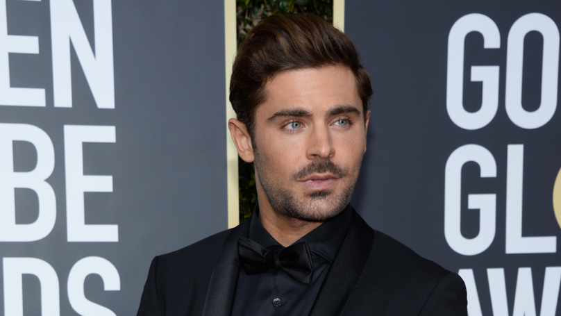 Zac Efron Unveils His Platinum Blonde Hair During Red Carpet