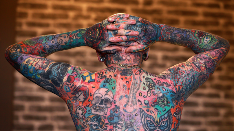 Man Who Spent £15,000 on Tattoos Even Inked His Own Privates