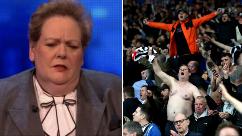 Anne Hegerty Agrees To Face Topless Newcastle Fan In Pub Quiz