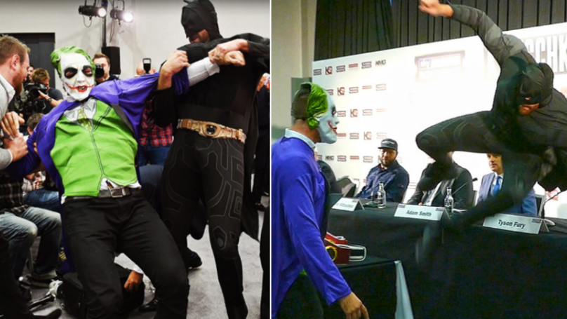 Remembering When Tyson Fury Arrived At Press Conference Wearing A Batman Outfit