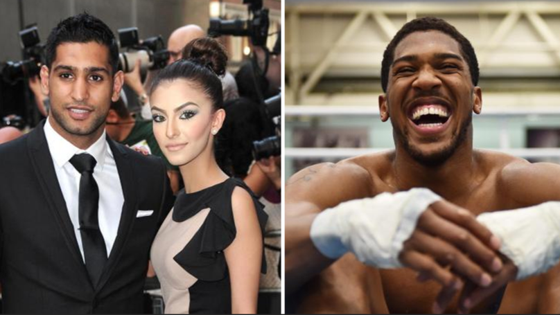 Amir Khan Sends Apology To Anthony Joshua After Accusing Him Of Messaging His Wife