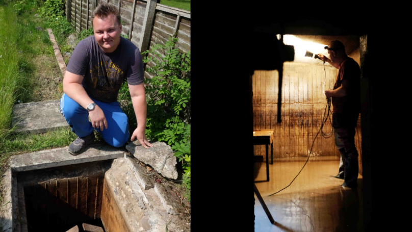 Man Discovers Secret WWII Bunker In His Back Garden
