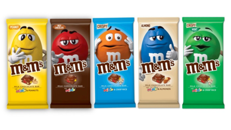 ​A Whole Range Of M&M's Chocolate Bars Are Being Released In December