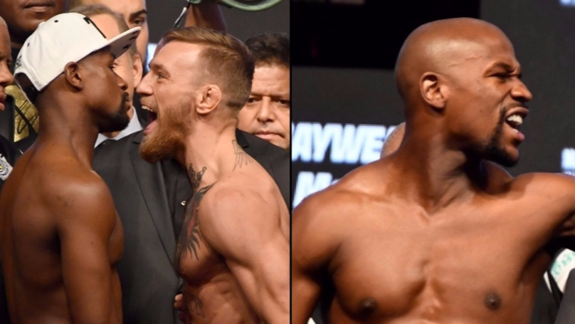 The Comments McGregor Made During Intense Weigh-In Which Made Mayweather Break Character