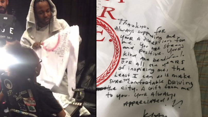 Kendrick Lamar Gives Incredible Gift To Loyal Fan In Need Of Help