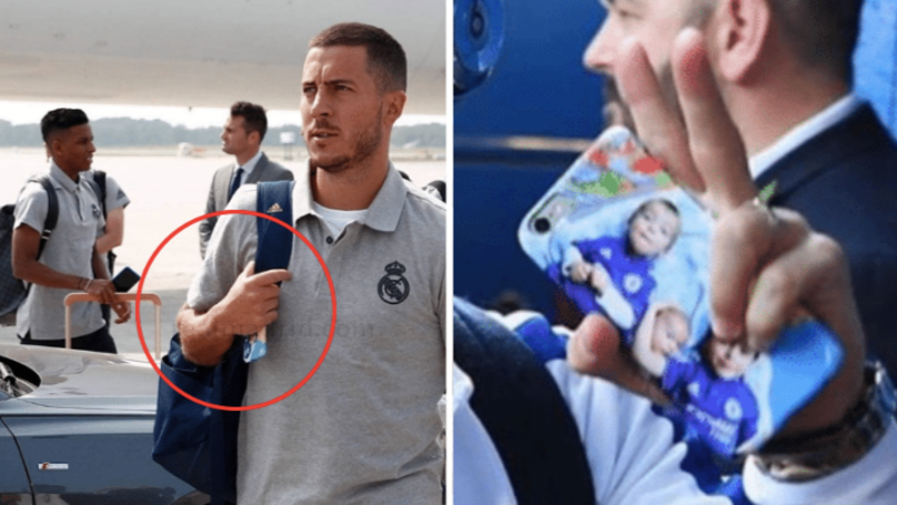 Real Madrid's Eden Hazard Still Uses A Chelsea Phone Case