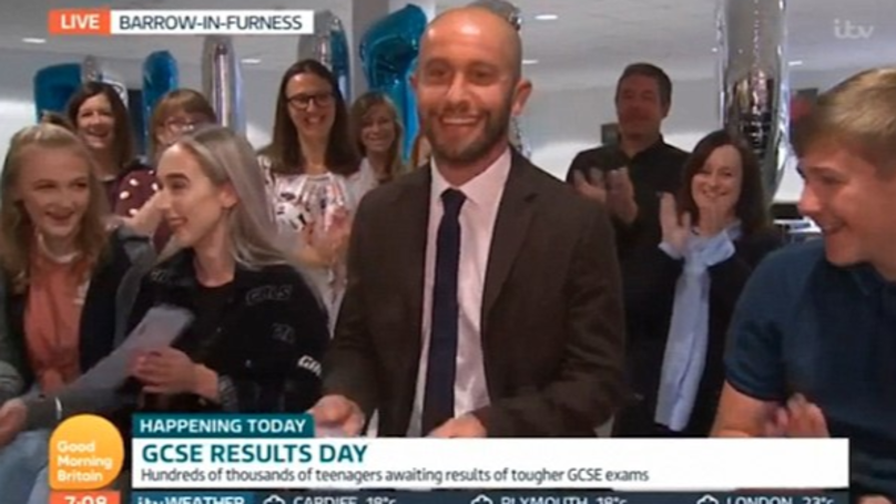 Year 11 Teacher Opens His GCSE Results On Live TV And Only Gets A 'C'