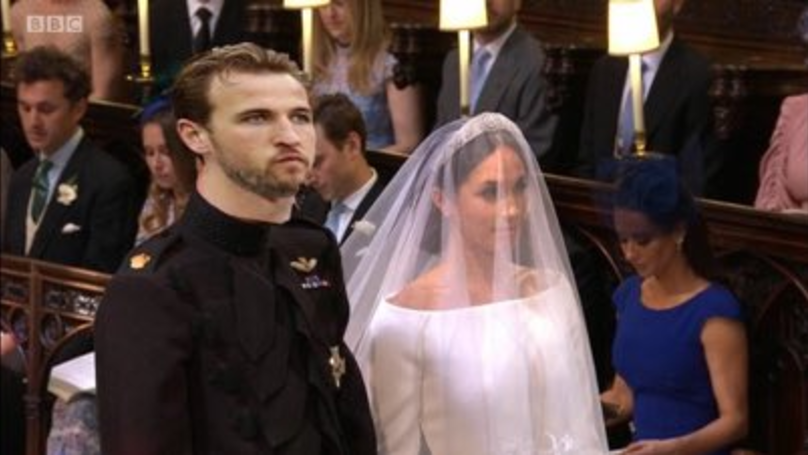 harry kane claims meghan markle at the royal wedding