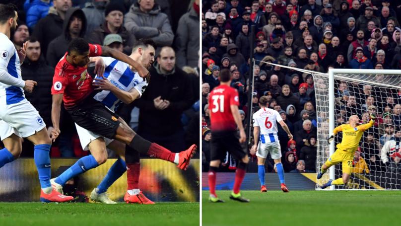 Fan's Tweet Of Rashford's Strike Against Brighton Goes Viral, Manchester United Responds