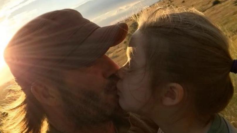David Beckham Defends Himself After Kissing His Kids On The Lips