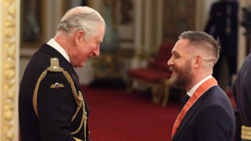 ​Tom Hardy Receives CBE For Services To Drama