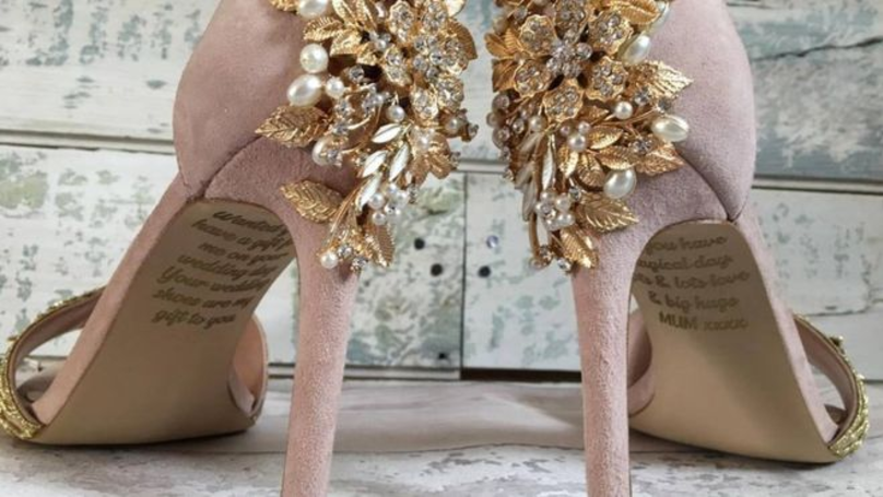 Bride Finds Secret Message From Her Late Mum On Her Wedding Shoes