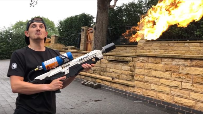 Elon Musk Gives YouTuber 'Flamethrower', Police 'Threaten To Raid His House'