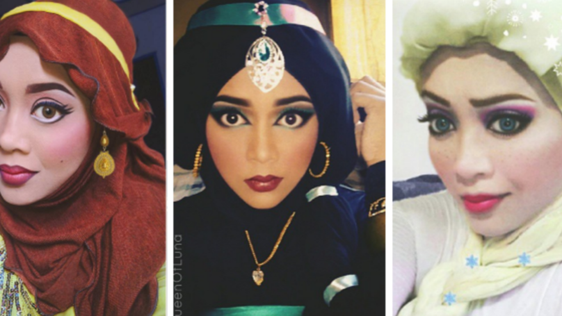 ​This Makeup Artist Uses Her Hijab To Turn Herself Into Disney Princesses