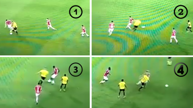 The Incredible Moment Player Casually Nutmegs Four Players In Six Seconds