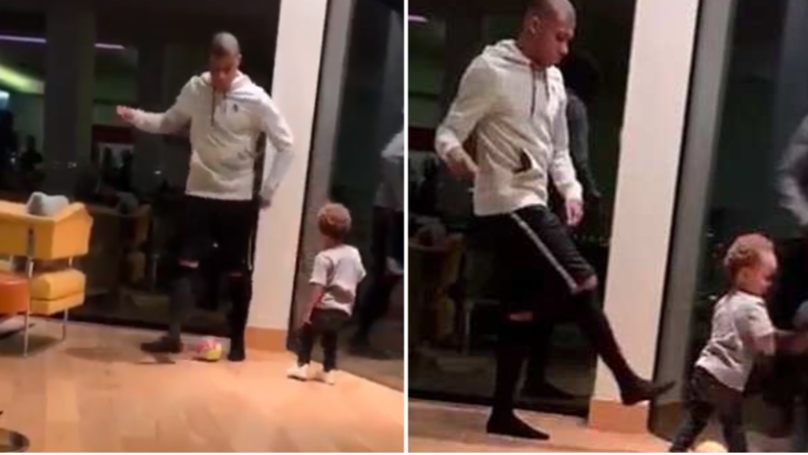 Kylian Mbappe Savagely Nutmegs His Two-Year Old Nephew