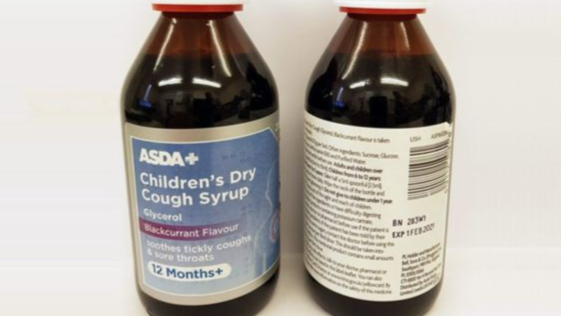 Children's Cough Syrup Sold At ASDA, Tesco And Wilko Recalled Over Allergy Fears