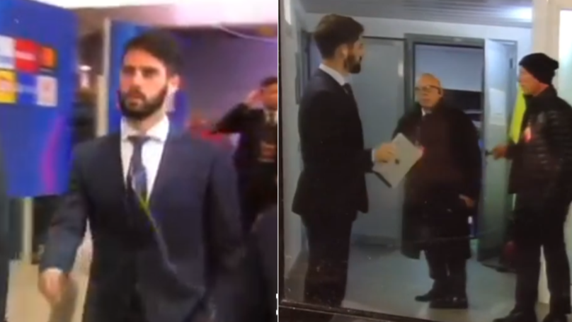 Footage Shows How 'Embarrassed' Isco Was After Finding Out He Was Dropped
