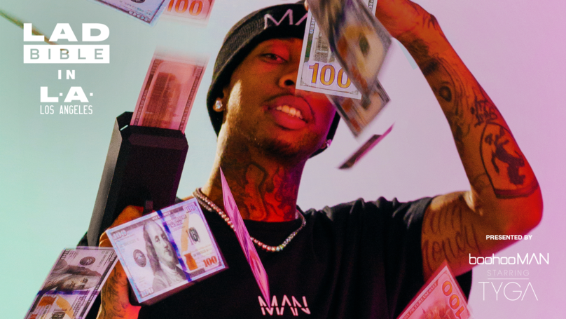 Rapper Tyga Checks Out A Camouflage Rolls Royce And We're Jealous