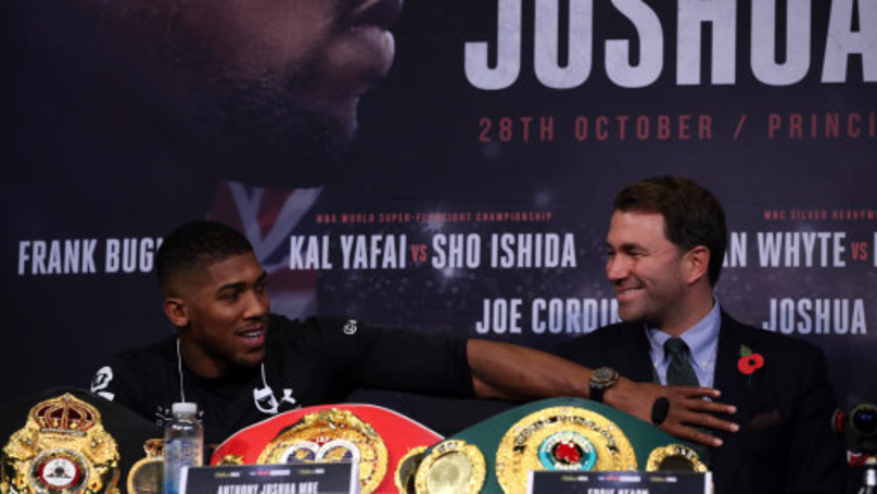 Anthony Joshua Was The One Encouraging Fans To Boo Promoter Eddie Hearn