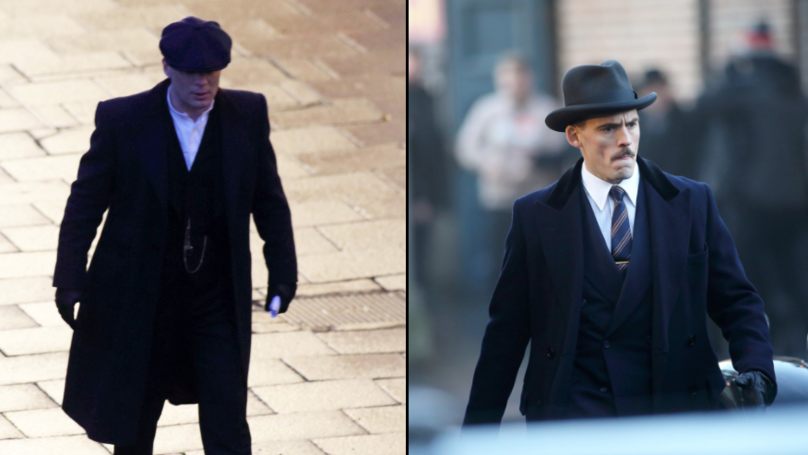 Cillian Murphy And Sam Claflin Spotted Filming Peaky Blinders