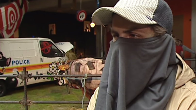 Unearthed Video Appears To Show Glimpse Of Banksy's Face