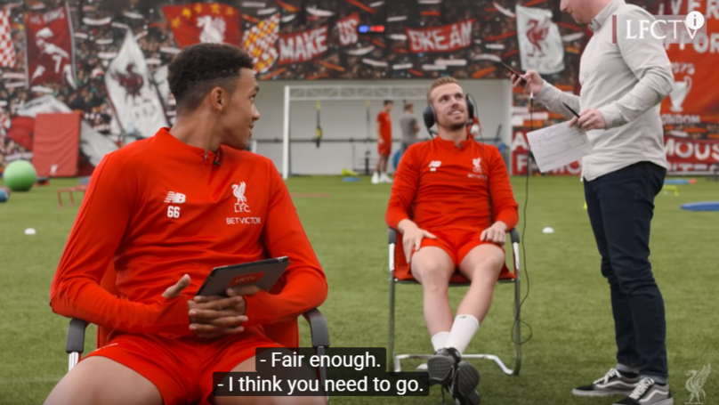The Incredible Moment Jordan Henderson Informs Liverpool Cameraman His Wife Has Gone Into Labour