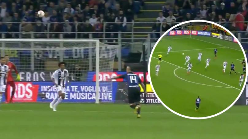 Radja Nainggolan Scores The Best Volley You'll See All Season Against Juventus