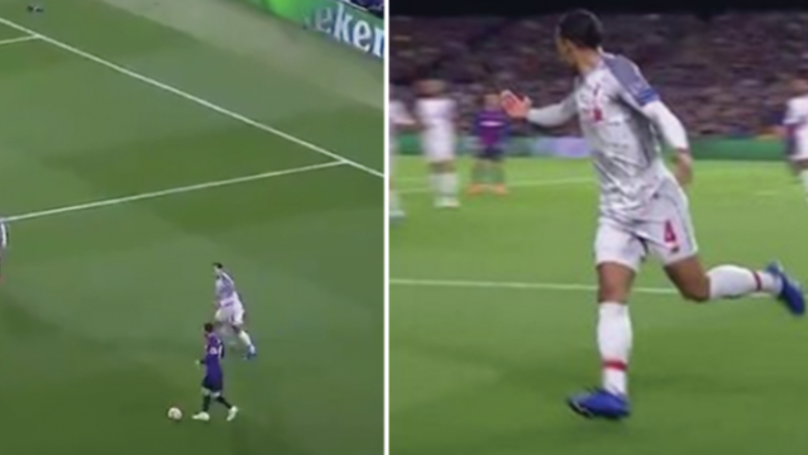 Virgil Van Dijk Screams For Help When Trying To Deal With Lionel Messi