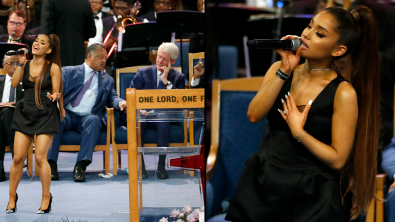 People Couldn't Help But Notice Bill Clinton's Reaction To Ariana Grande At Aretha Franklin's Funeral
